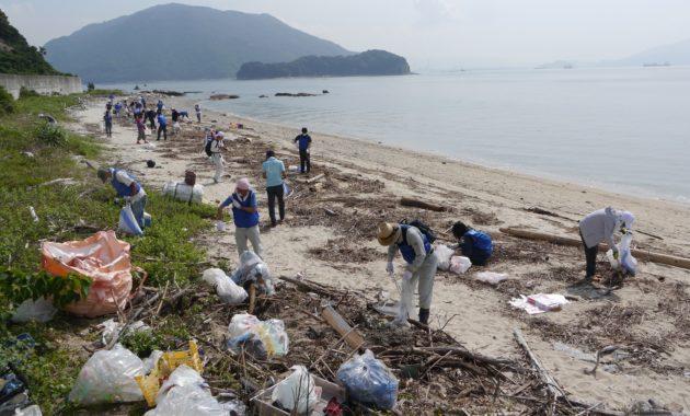 海岸清掃⑥